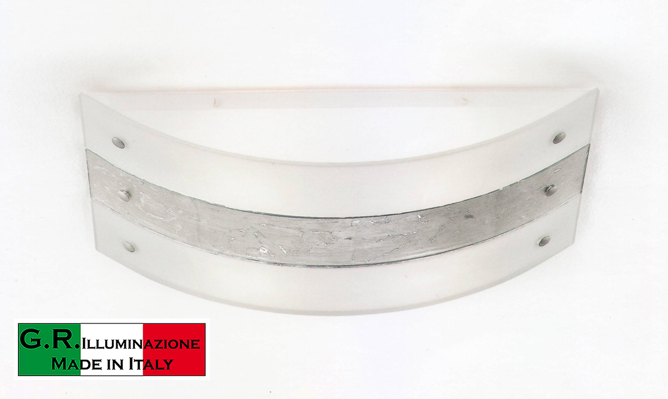 Plafoniera soffitto in vetro moderno foglia argento oro o rame