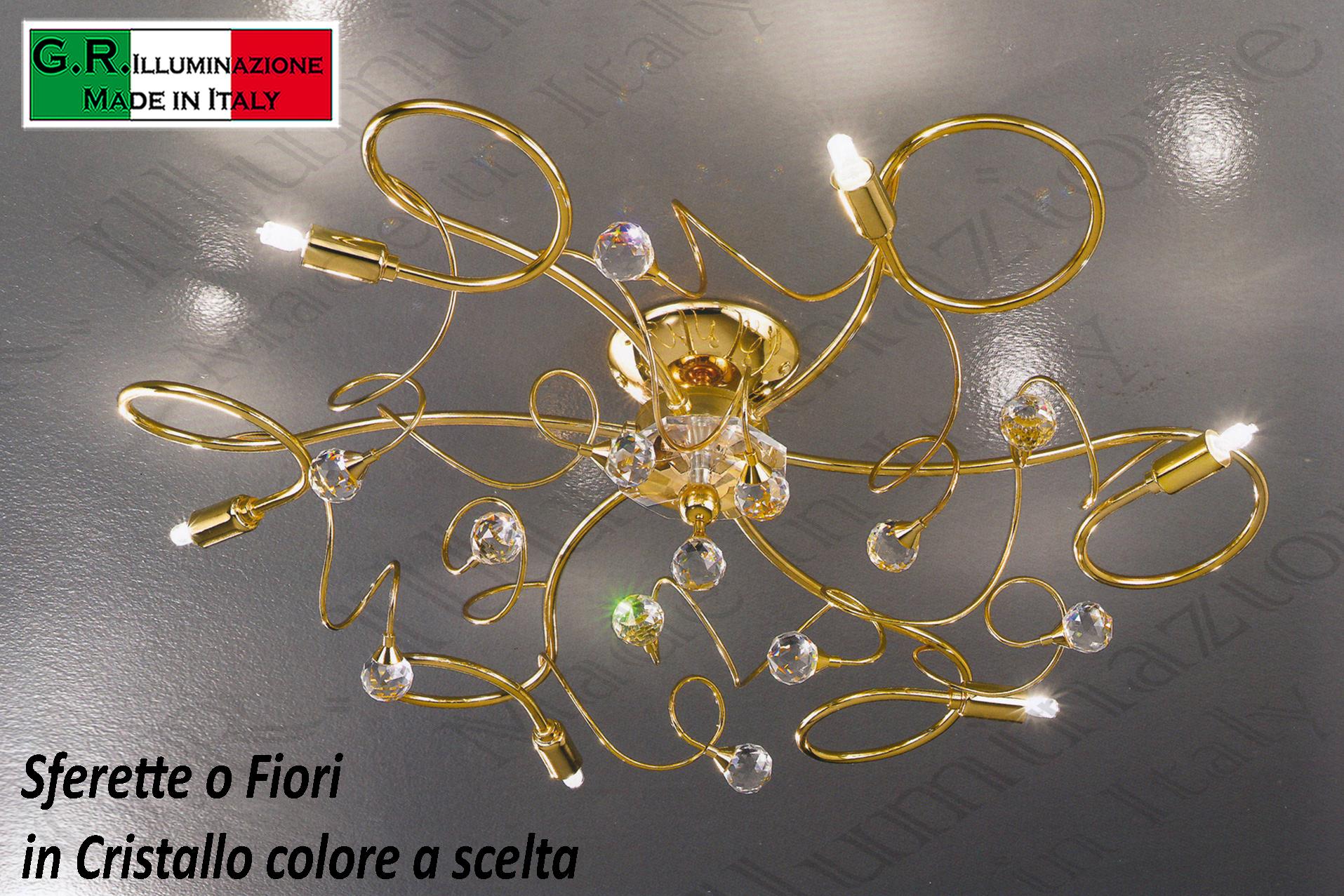 Plafoniera Bagno Cristallo : Plafoniera led soffitto lampadario camera letto